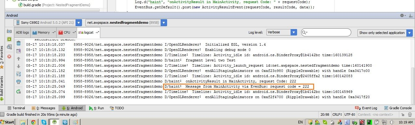 onActivityResult not called in nested Fragment
